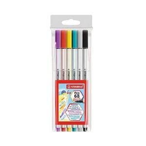 Brush Pen STABILO 68 C/6 Cores