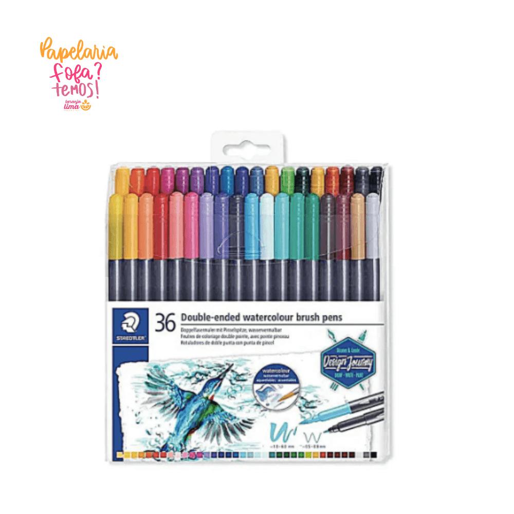 Brush Pen STAEDTLER Ponta Dupla C/ 36