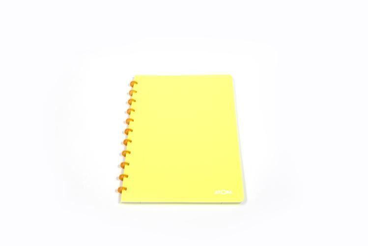 Caderno A4 Pautado Neon Amarelo Atoma