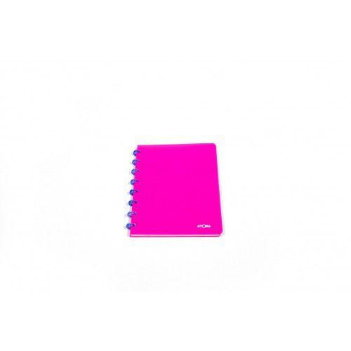 Caderno A4 Pautado Neon Rosa Atoma