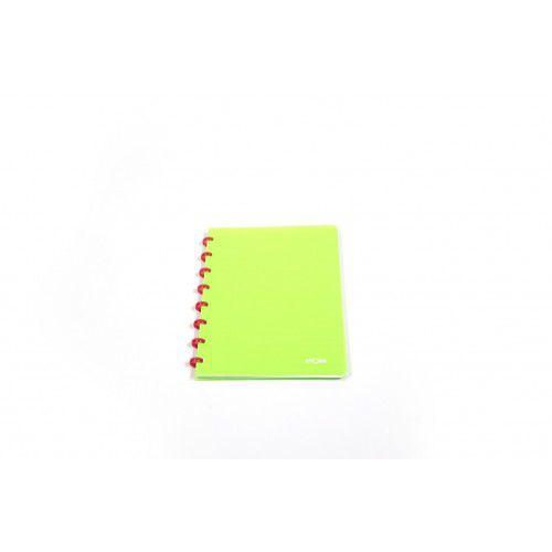 Caderno A4 Pautado Neon Verde Atoma