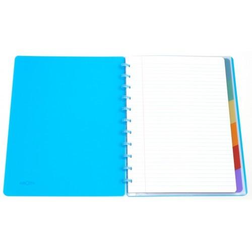 Caderno A4 Pautado Transparente Plus Verde Atoma
