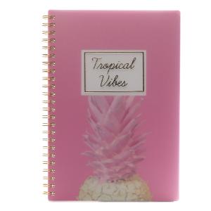 Caderno A5 Bee Tropical Vibes Espiral