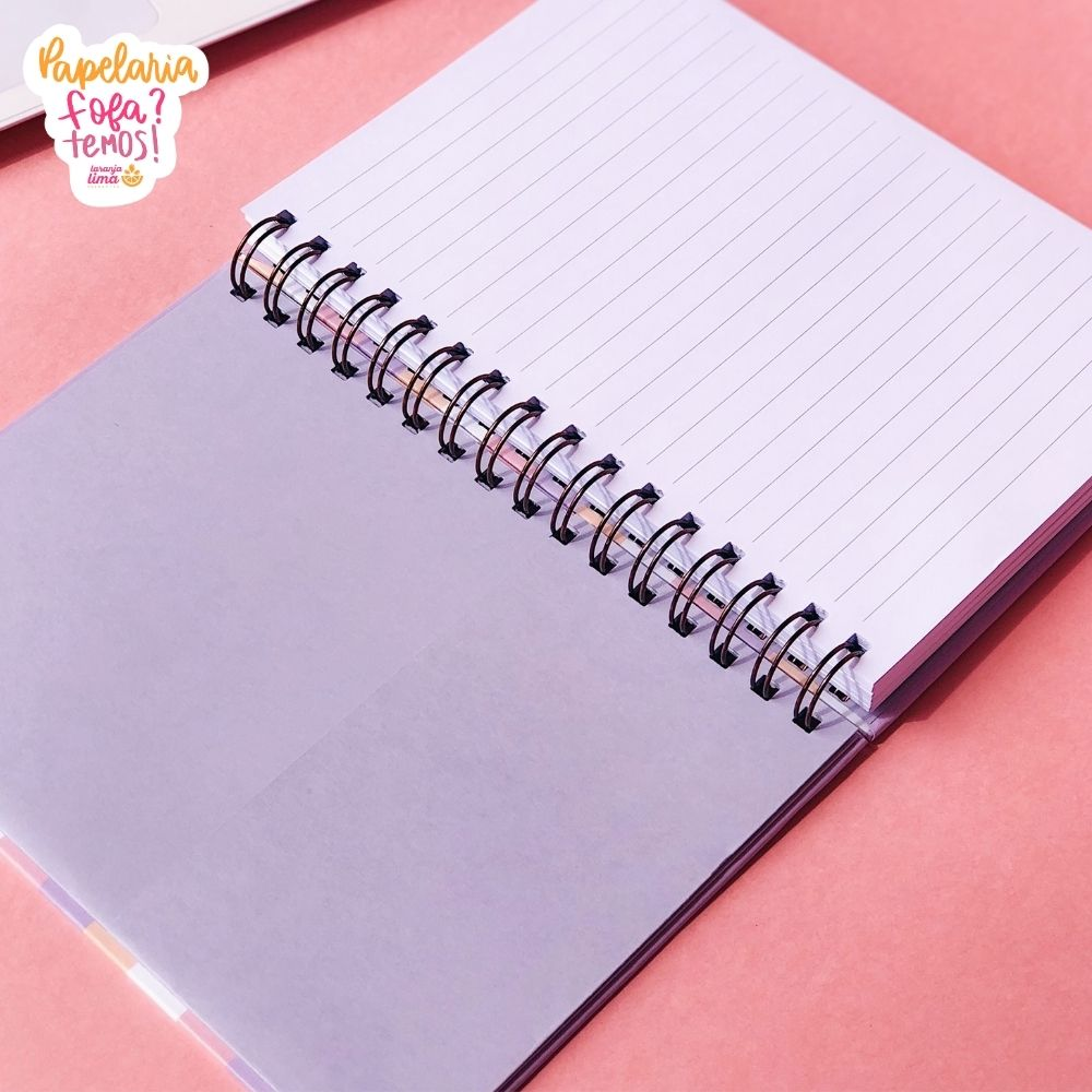 Caderno A5 Listras Babe Planos Pontilhados