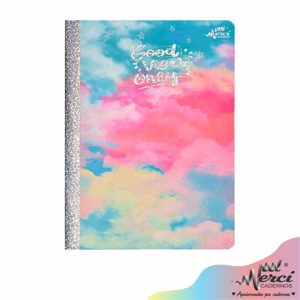Caderno Brochura Good Vibes Merci Tamanho Colegial