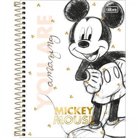 Caderno Colegial 1M Mickey