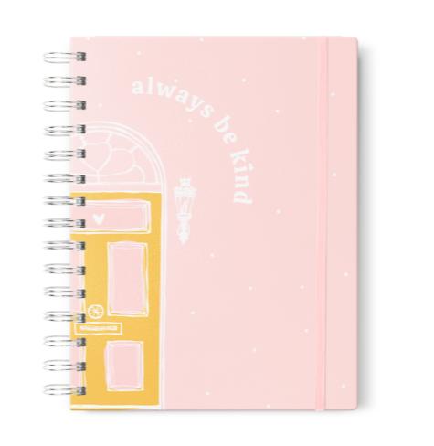 Caderno Colegial Be Kind Rosa Planos Pontilhados