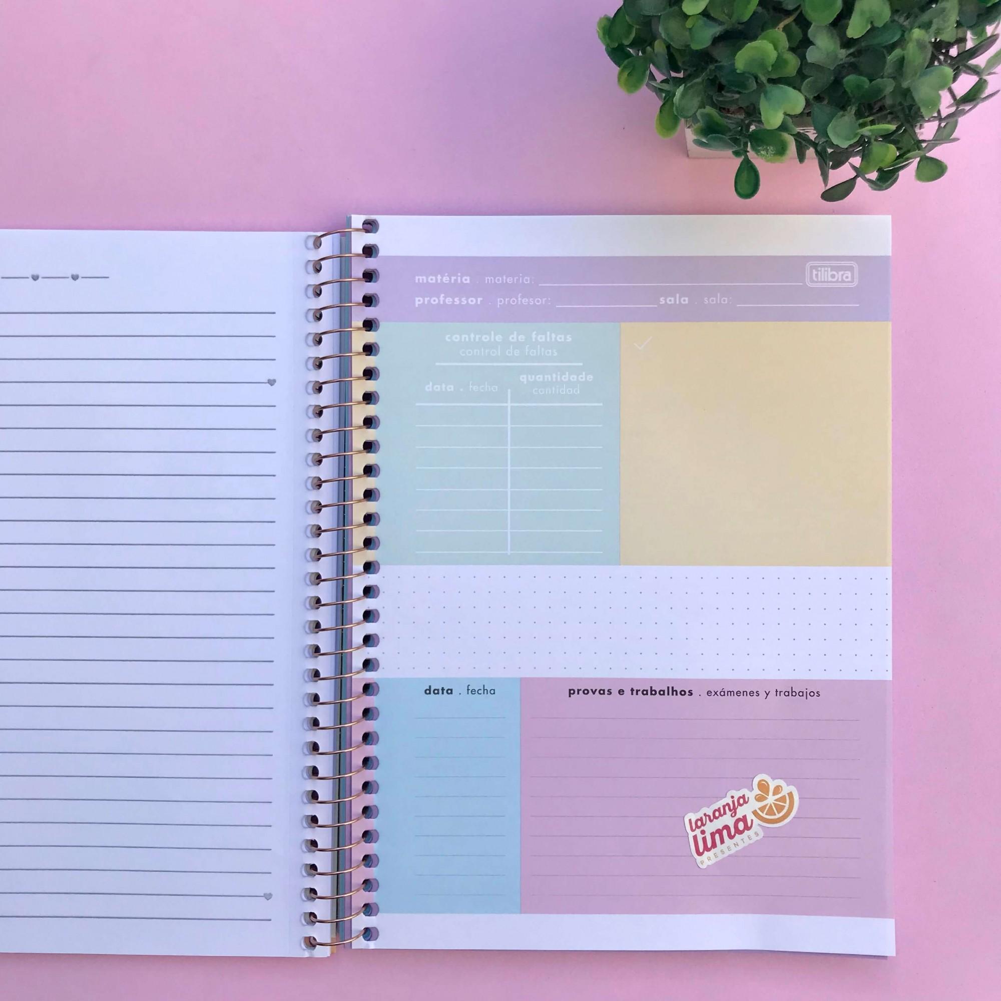 Caderno Colegial Happy Color 1 Materia Nova Coleção
