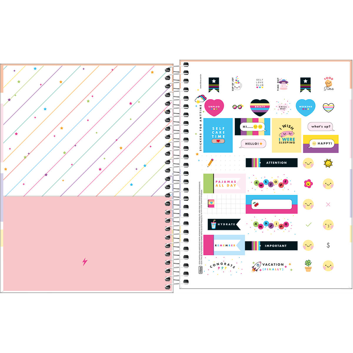 Caderno Colegial Happy Color 1 Matéria Tilibra