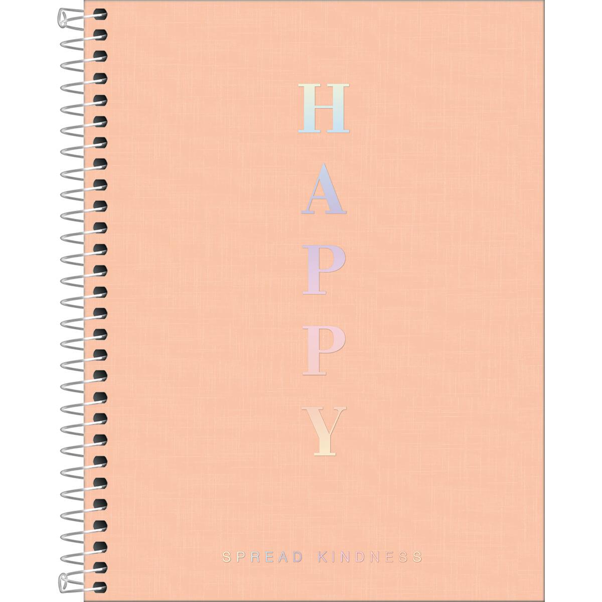 Caderno Colegial Happy Coral 1 Matéria Tilibra