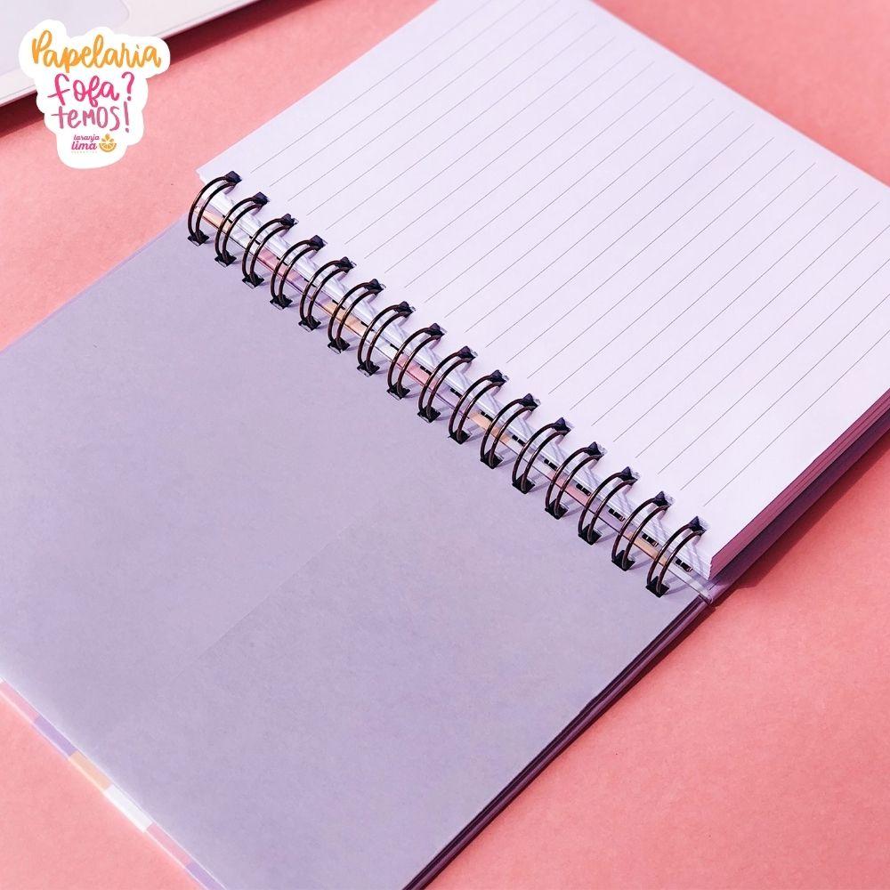 Caderno Colegial  Listras Babe Planos Pontilhados