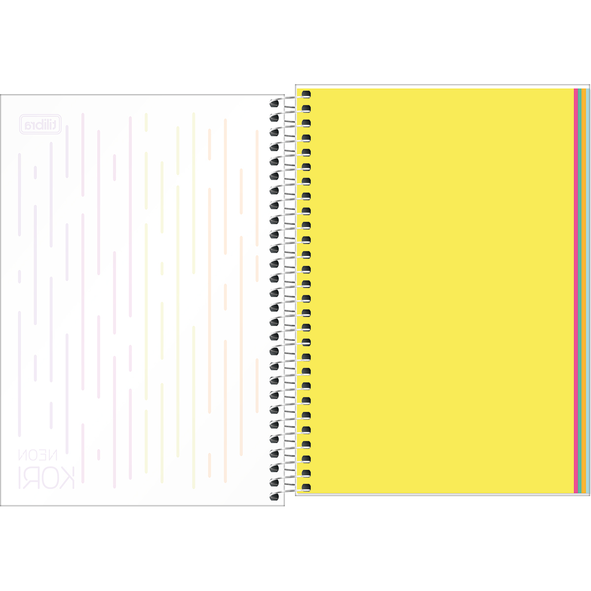 Caderno Colegial Neon Kori 1 Matéria Tilibra