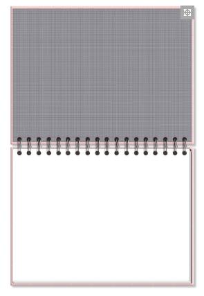 Caderno de Lettering Folhas Brancas