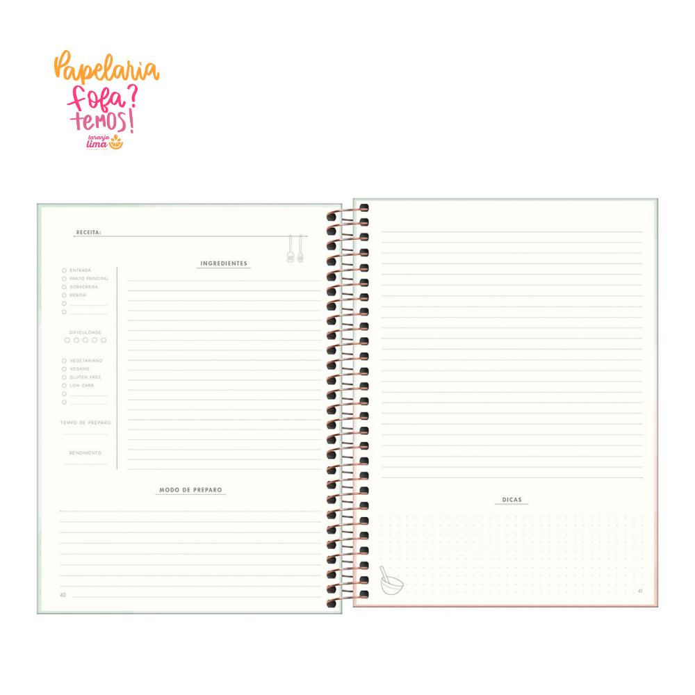 Caderno de RECEITAS Tilibra Soho
