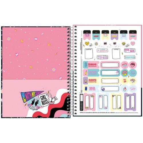 Caderno Espiral Colegial Capricho 80 Fls