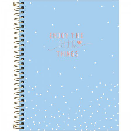 Caderno Espiral Colegial Soho Rosa Listras 10 M