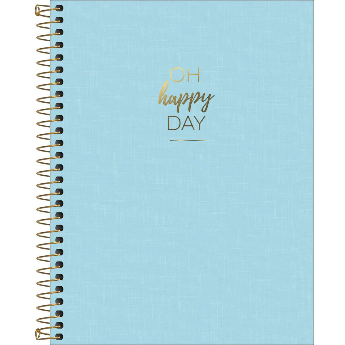 Caderno Espiral HAPPY AZUL Colegial 1 Materia