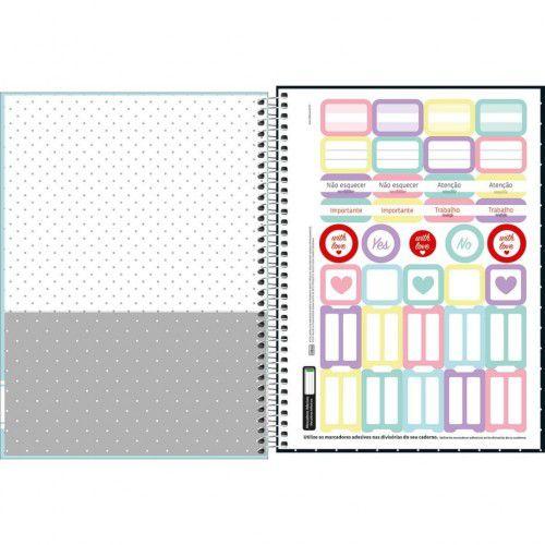 Caderno Espiral Universitario 1 Materia Academie 96 Fls Azul