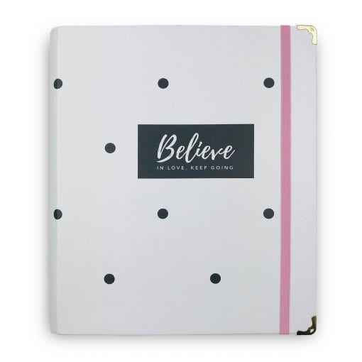 Caderno Fichario Believe