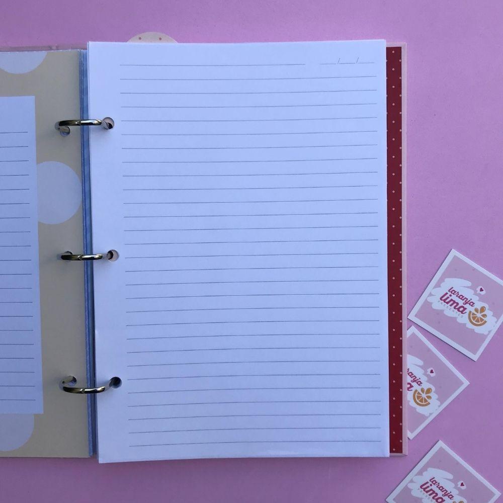 Caderno Fichário Borboletas Fina Ideia