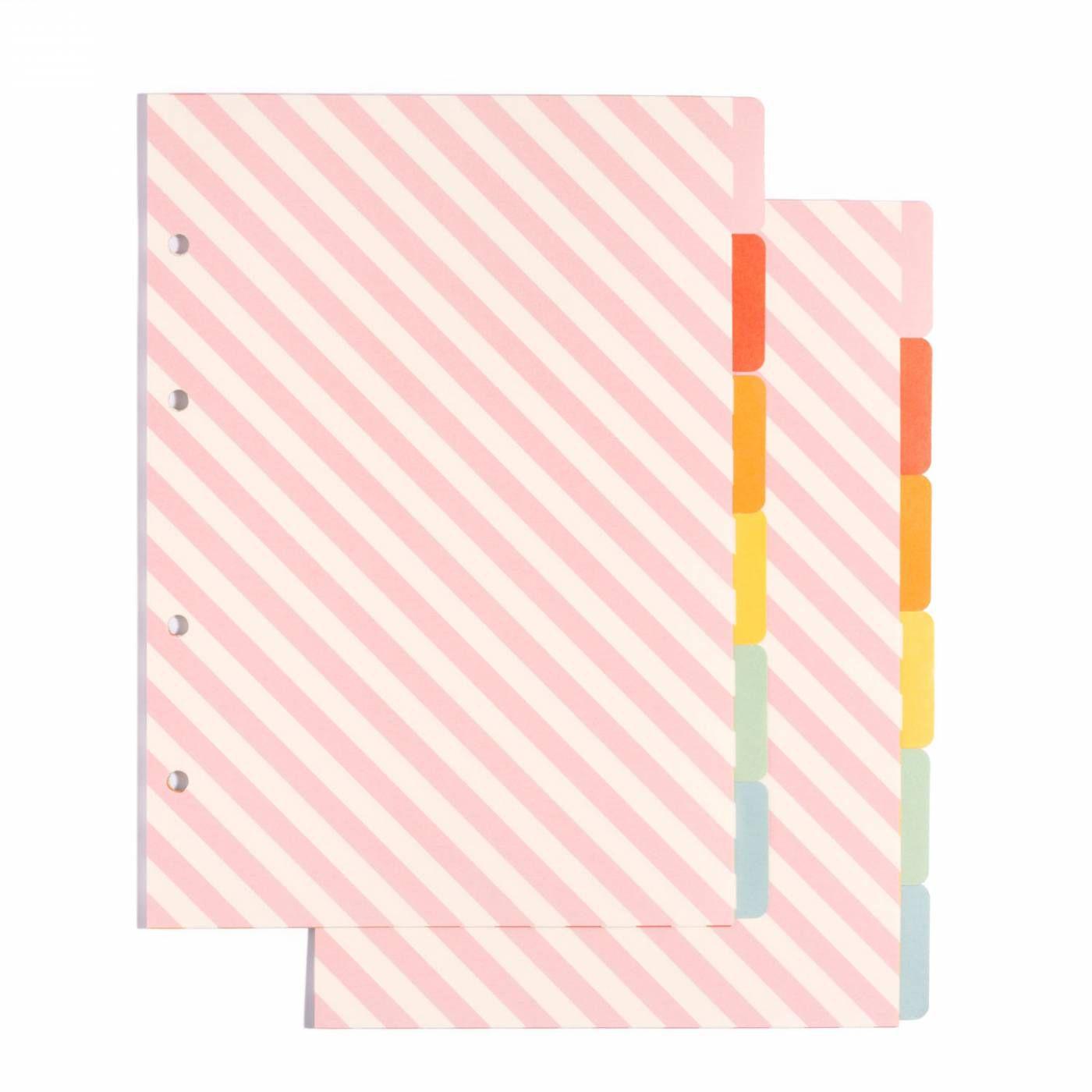 Caderno Fichario Criativo Arco Iris