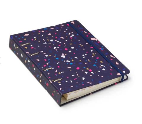 Caderno Fichario Criativo Azul Marinho