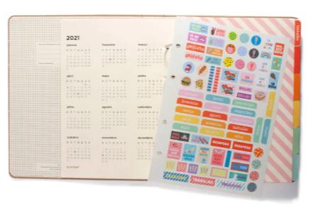 Caderno Fichario Criativo Kraft
