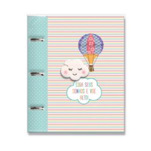 Caderno Fichario Nuvem e Balao