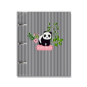 Caderno Fichario Panda