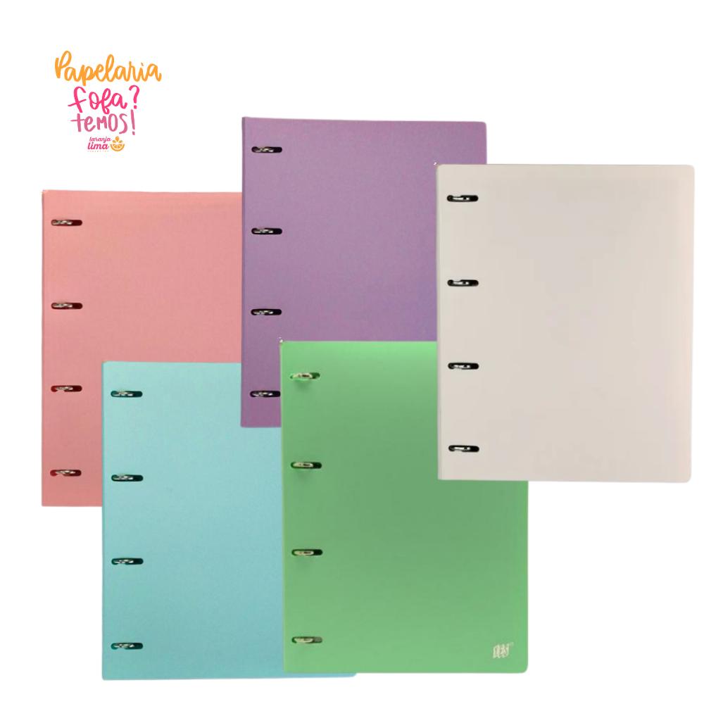 Caderno Fichario Yes A4 Pastel
