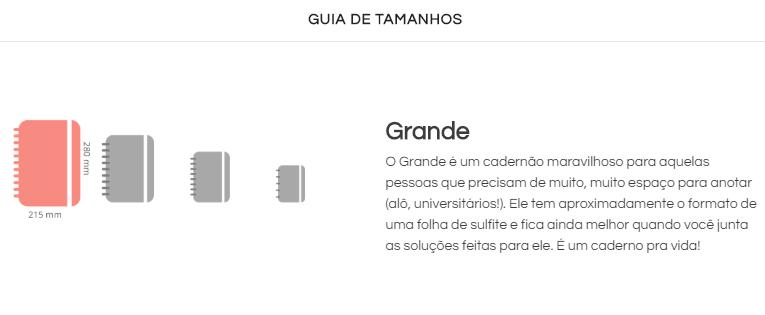 Caderno Inteligente Arco íris Pastel Grande | Laranja Lima Presentes