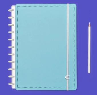 Caderno Inteligente Azul Celeste Grande | Laranja Lima Presentes