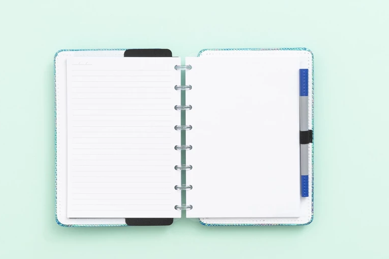 Caderno Inteligente Azul Holografico A5 | Laranja Lima Presentes