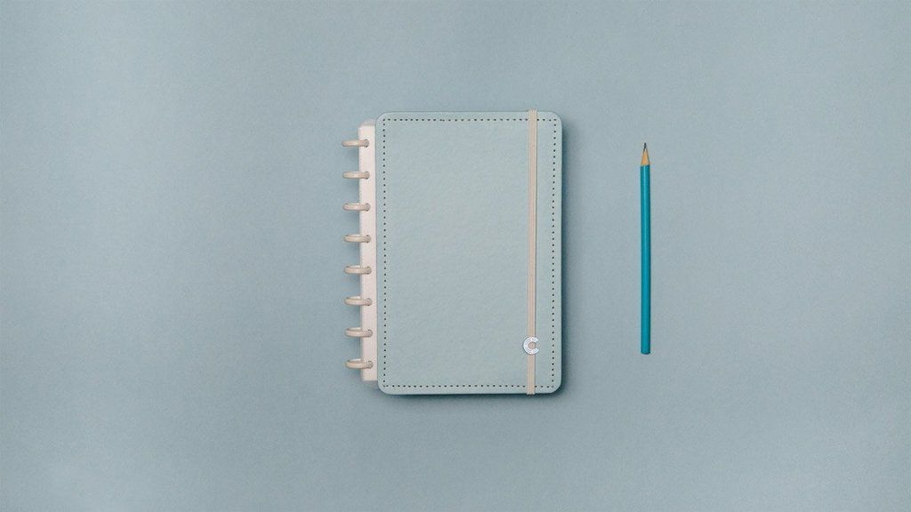 Caderno Inteligente Azul Pastel A5 | Laranja Lima Presentes