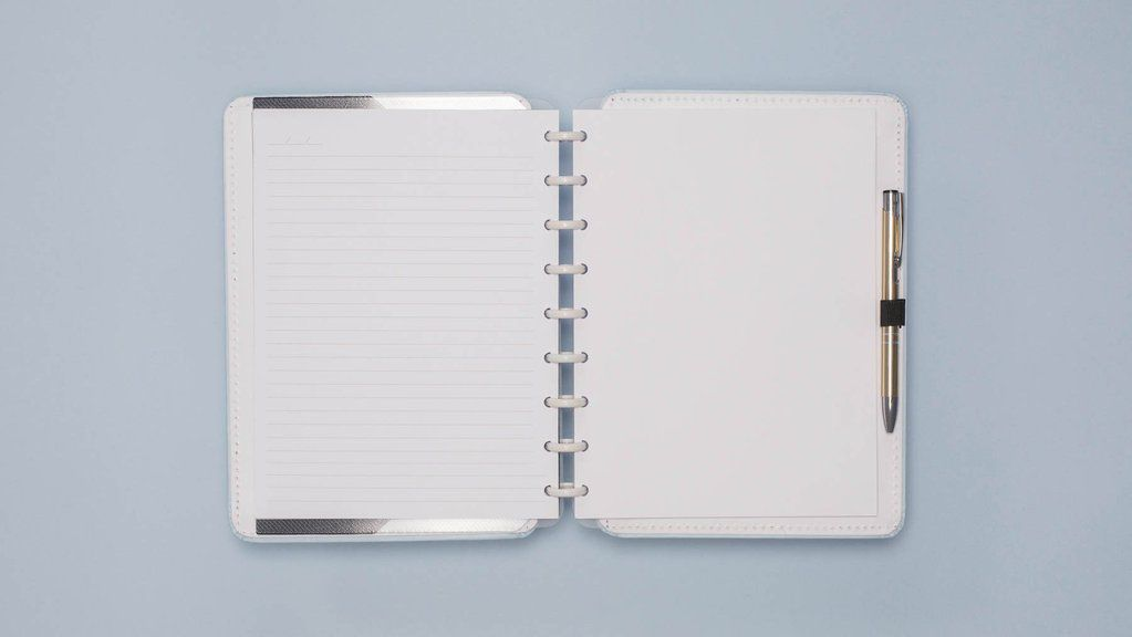 Caderno Inteligente Azul Pastel A5   Laranja Lima Presentes