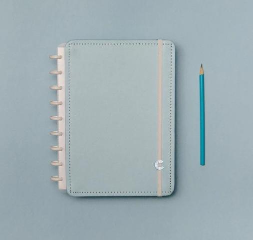 Caderno Inteligente Azul Pastel Medio