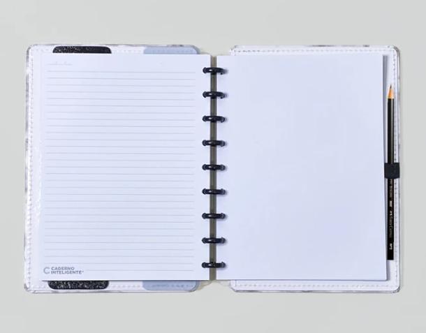 Caderno Inteligente Bianco Médio | Laranja Lima Presentes