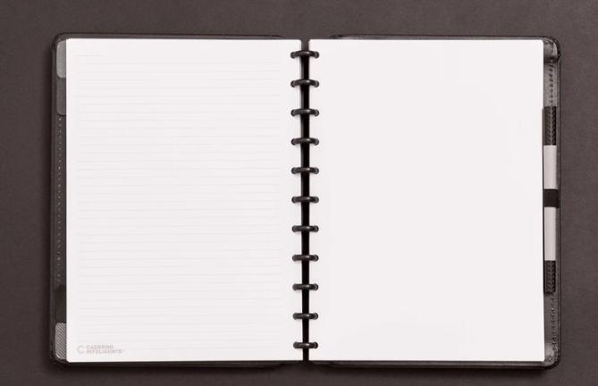 Caderno Inteligente Black Eco Tamanho Grande | Laranja Lima Presentes
