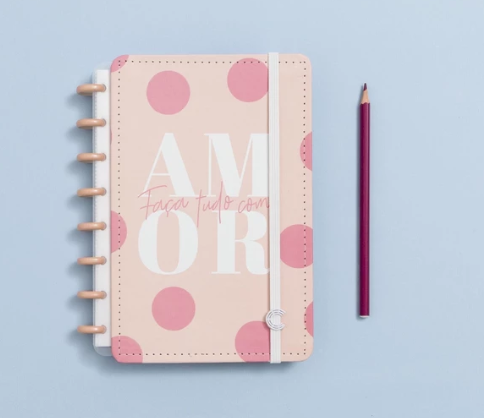 Caderno Inteligente Cor de Rosa A5