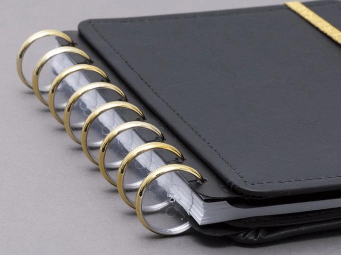 Caderno Inteligente DISCO + Elastico Dourado G