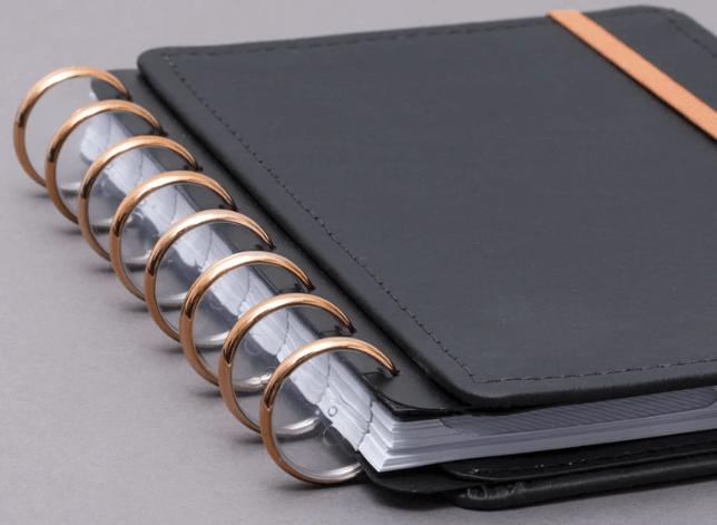 Caderno Inteligente DISCO + Elastico Rose Gold G