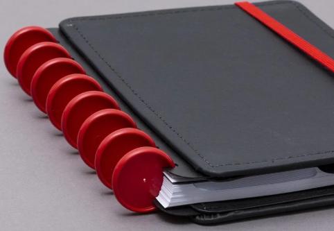 Caderno Inteligente DISCO + Elastico Vermelho G 31mm