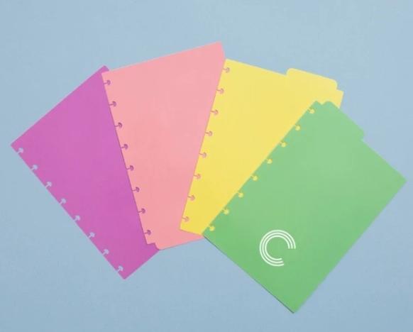 Caderno Inteligente Divisorias Pastel A5