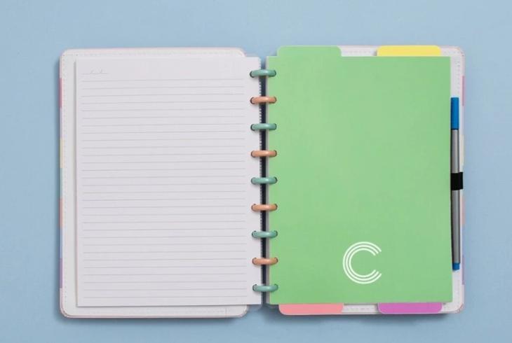 Divisorias Caderno Inteligente Pastel Medio