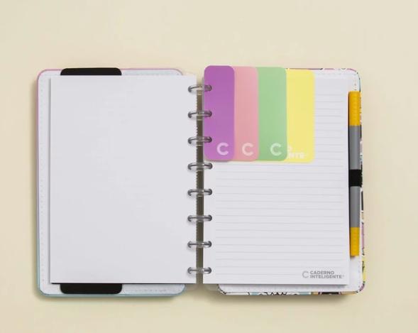Marcador Paginas Pastel Caderno Inteligente