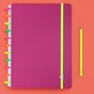 Caderno Inteligente Neon Vibes Grande BY Yasmin Galvão