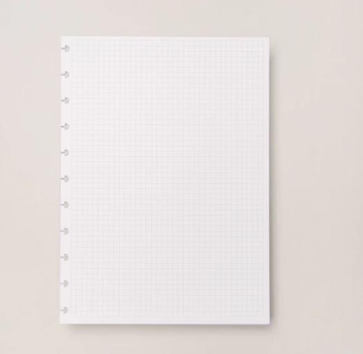 Refil Caderno Inteligente Quadriculado Grande