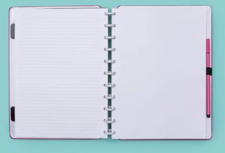 Caderno Inteligente Rosa Choque Grande
