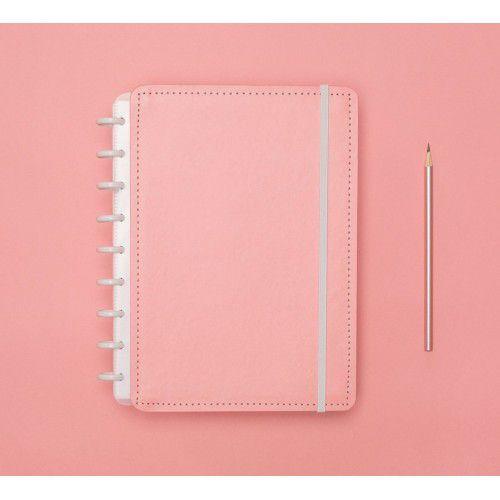 Caderno Inteligente Rosa Pastel Medio l Laranja Lima Presentes