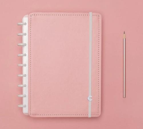 Caderno Inteligente Rose Pastel Medio